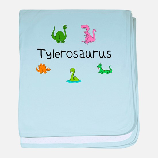 Tylerosaurus baby blanket