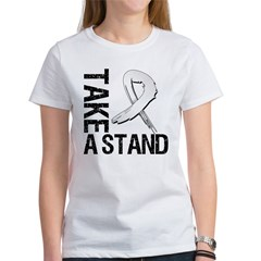 Lung Cancer Take A Stand Women's T-Shirt