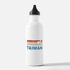 Retro Palm Tree Taiwan Water Bottle