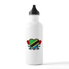 Heart Tanzania Water Bottle