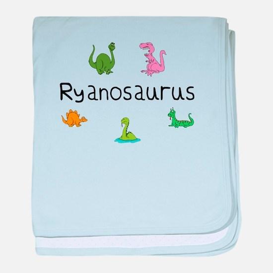 Ryanosaurus baby blanket