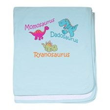 Mom, Dad & Ryanosaurus baby blanket
