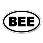 BEE Euro Oval Sticker