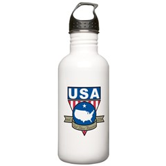God Bless America Water Bottle