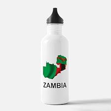 Map Of Zambia Water Bottle