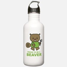 Proud To Be A Beaver Water Bottle