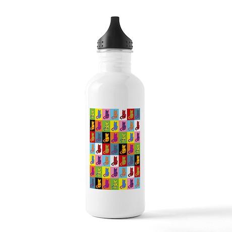 Pop Art Cat Stainless Water Bottle 1.0L