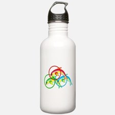 Colorful Dolphin Water Bottle