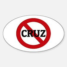 Anti-Cruz Oval Decal