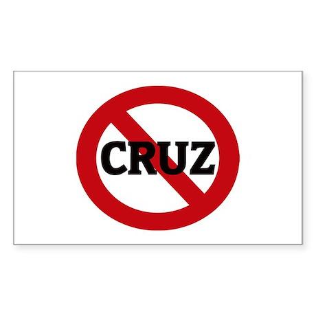 Anti-Cruz Rectangle Sticker