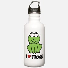 I Love Frogs Water Bottle