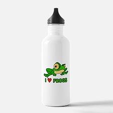 I Love Frogs Water Bottle
