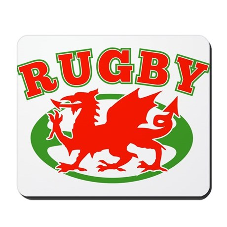 wlaes rugby ball Mousepad