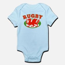 wlaes rugby ball Infant Bodysuit