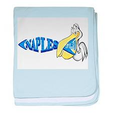 Naples Florida Pelican baby blanket