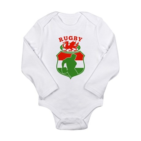 wales rugby player Long Sleeve Infant Bodysuit