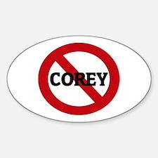 Anti-Corey Oval Decal