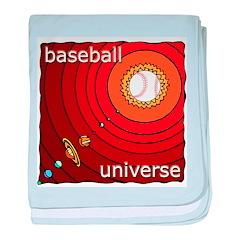 Baseball Universe baby blanket