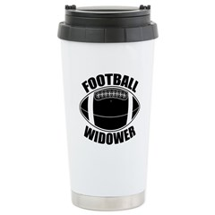 Football Widower Travel Mug