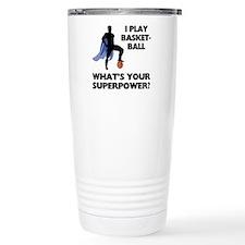 Basketball Superhero Travel Coffee Mug