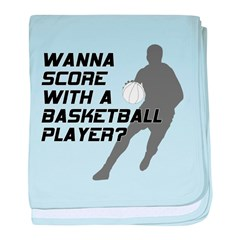 Score Basketball Player baby blanket
