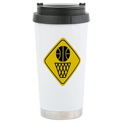 Basketball Crossing Sign Travel Mug