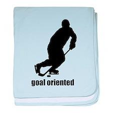 Goal Oriented Hockey baby blanket