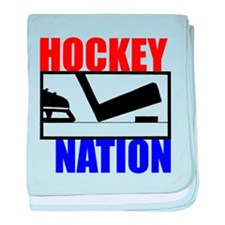 Hockey Nation RWB baby blanket