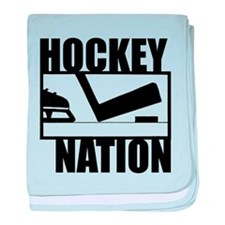 Hockey Nation baby blanket