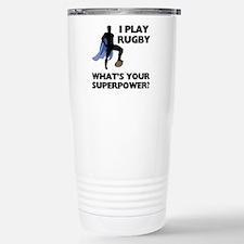 Rugby Superhero Thermos Mug