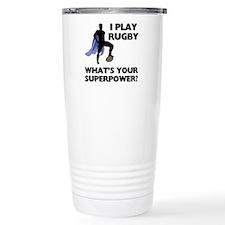 Rugby Superhero Travel Coffee Mug