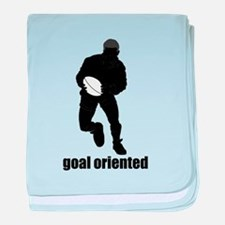Goal Oriented Rugby baby blanket