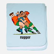 Rugger Rugby baby blanket