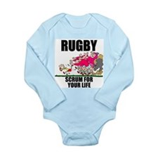 Scrum For Your Life Long Sleeve Infant Bodysuit