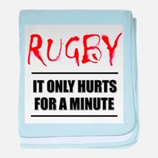 It Only Hurts 1 Rugby baby blanket