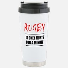 It Only Hurts 1 Rugby Stainless Steel Travel Mug