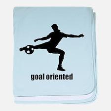 Goal Oriented Soccer baby blanket
