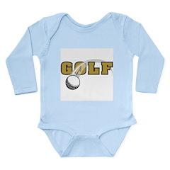 Golf Nuts Long Sleeve Infant Bodysuit