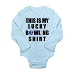 Lucky Bowling Shirt Long Sleeve Infant Bodysuit