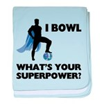 Bowling Superhero baby blanket