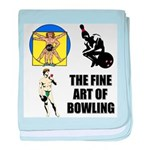 Fine Art of Bowling baby blanket