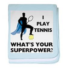 Tennis Superpower baby blanket