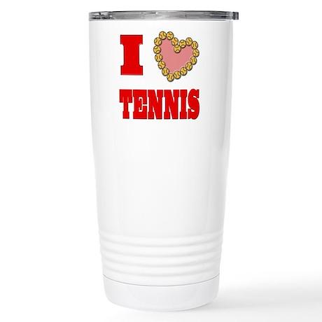 I Heart Tennis Stainless Steel Travel Mug