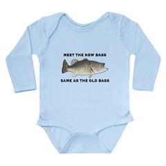 Meet The New Bass Long Sleeve Infant Bodysuit