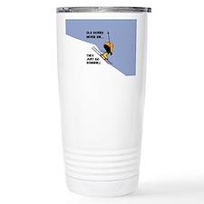 Old Skiers Never Die Stainless Steel Travel Mug
