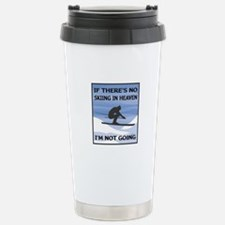 Skiing In Heaven Travel Mug