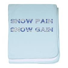 Snow Pain baby blanket