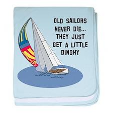 Old Sailors Never Die baby blanket