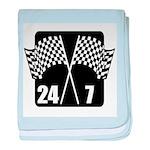 24/7 Racing baby blanket