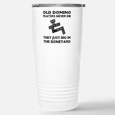 Domino Players Never Die Travel Mug